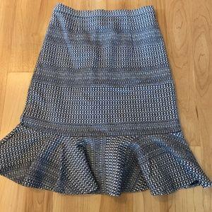 Banana Republic ruffle pencil skirt